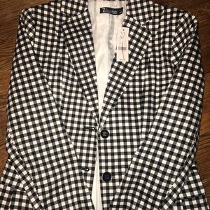NY & Co. Blazer size 0 Black and White